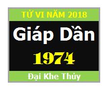 Vận Hạn Tử Vi Tuổi Giáp Dần 1974 Năm 2018