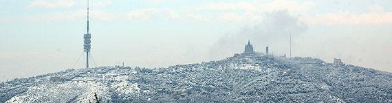 BCN nevada. Foto de X. Jubierre en El Periódico. 20130223