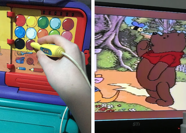 jogo de colorir do ursinho Puff/Pooh no Sega Pico