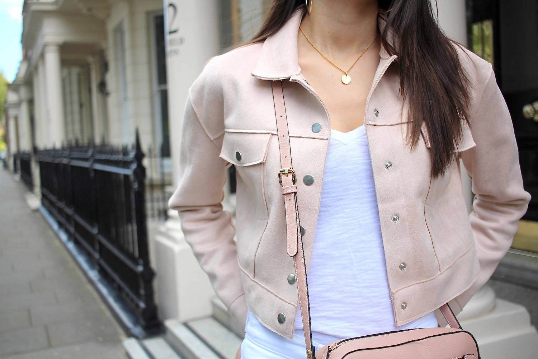 pastel pink white spring style peexo