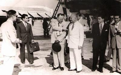 1951 - Conversando con el Cónsul de Portugal en Barcelona