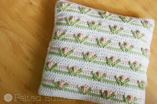 Little Dutch Girl Blanket and Pillow Crochet Pattern by Susan Carlson of Felted Button