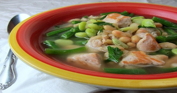 20 Minute Pork Three-Bean Soup Recipe