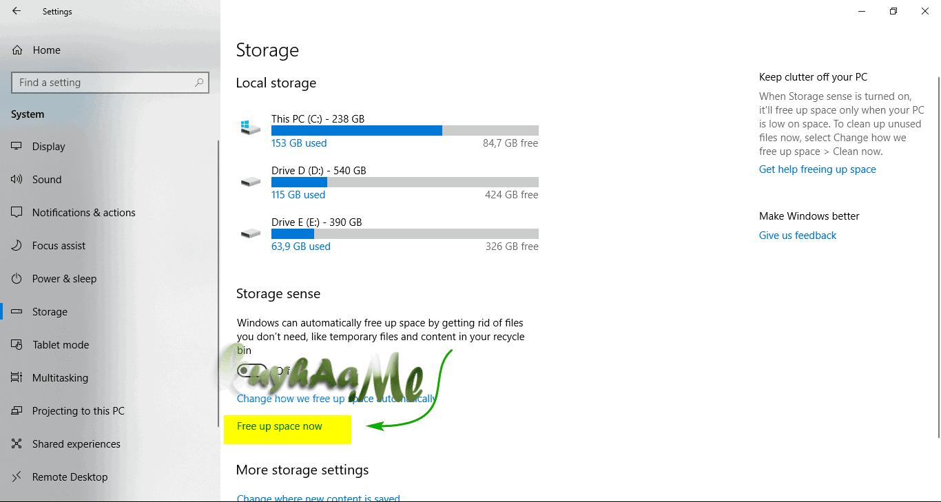 Remove windows.OLD di windows 10 RS4