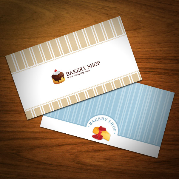 Bakery Business Card Irresistible 2 Designs