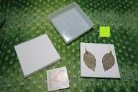 ausgepackt: ZEEme Damen-Ohrhänger Messing Blatt Metall vergoldet 6.2 cm - 374030016