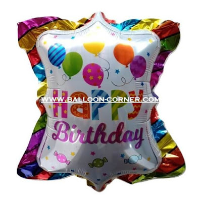 Balon Foil HAPPY BIRTHDAY Bantal