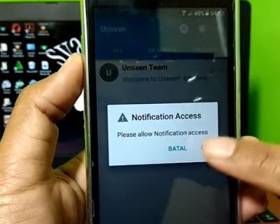 membuka aplikasi Unseen - No Last Seen