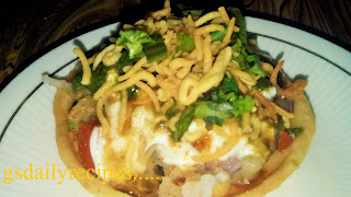 कटोरी चाट बनाने की विधि - katori chaat recipe - katori chaat recipe in hindi - how to make katori chaat