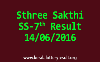 Sthree Sakthi Lottery SS 7 Results 14-6-2016
