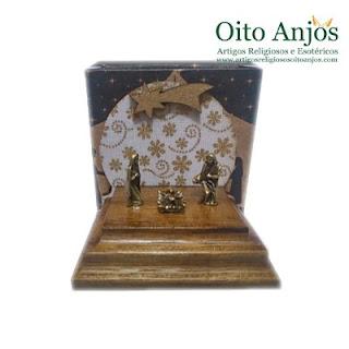 Mini Presépios de Natal  - Loja Oito Anjos Artigos Religiosos e Esotéricos