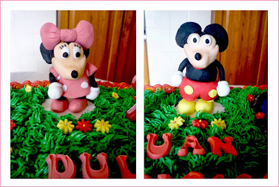 Tarta buttercream minnie and mickey mouse