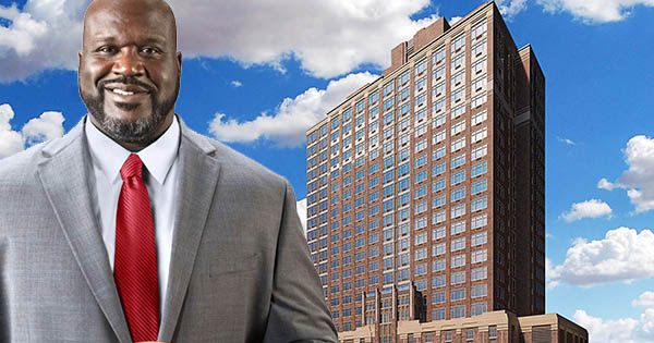 Shaq Tower apartment building in Newark