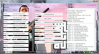 Trainer GTA 5 Multi Hack v3.2 +18