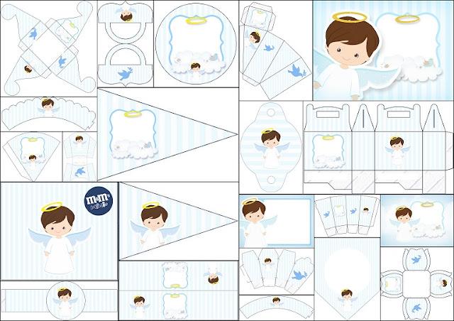 Kit de Angel Niño para Imprimir Gratis. | Ideas y material gratis ...