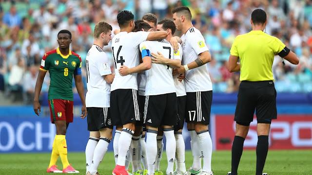 Alemania celebra su victoria contra Camerún en la Copa Confederaciones 2017