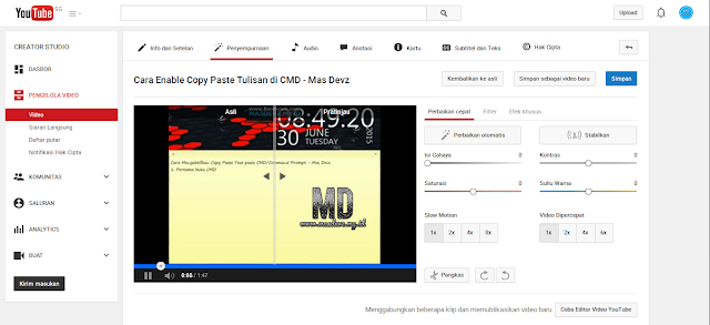 Video Enhancement - Mas Devz
