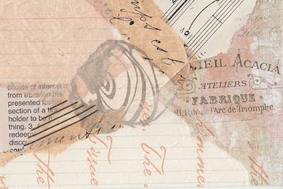 index card paper collages