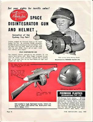Space Disintegrator Gun and Helmet