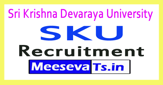 Sri Krishna Devaraya University SKU Assistant Professor Recruitment 2018