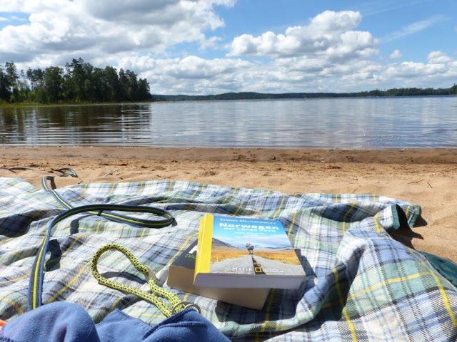 Schweden Campingtrip Urlaub mit Hund Rundreise Roadtrip Sommer Holsljunga Sand Strand