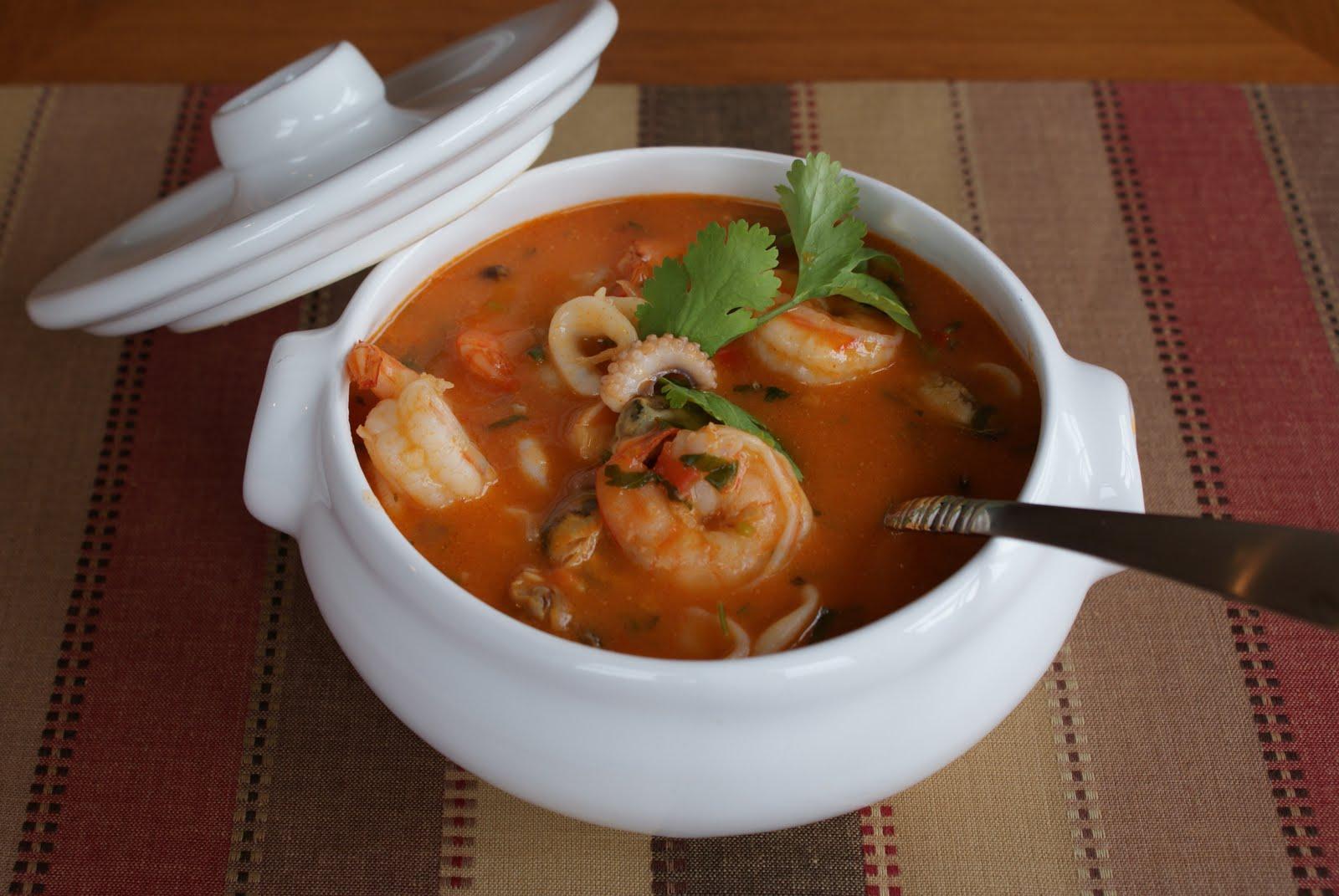 A Sunday Menu Seafood Cazuela  Cazuela de Mariscos