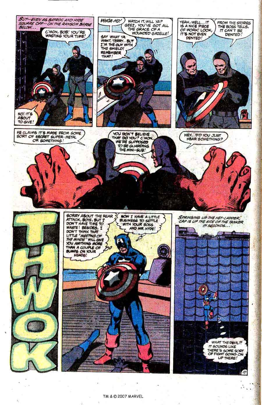 Captain America #252 marvel 1980s bronze age comic book page art by John Byrne