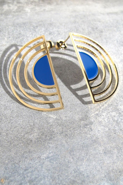 Boucles Sunset Anne Thomas bijoux bleu