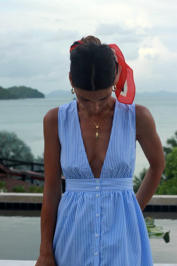 Vestido midi, vestido camisero rayas, look casual