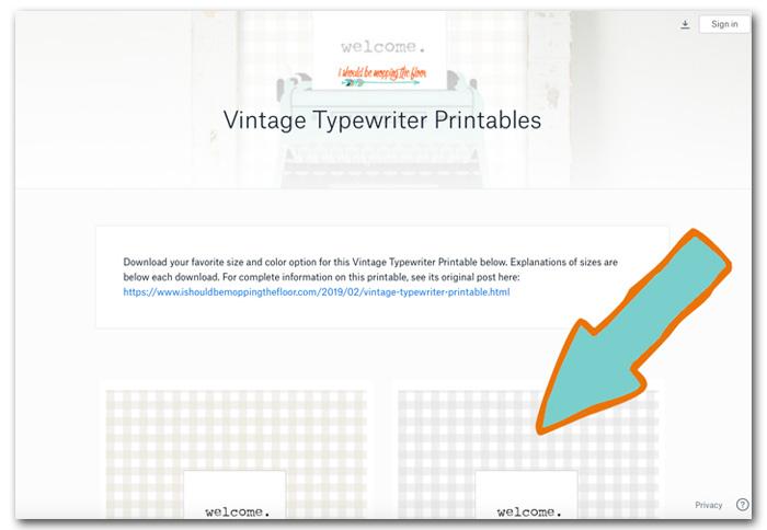 Downloading Printables