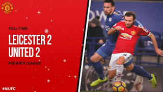 Leicester City vs Manchester United 2-2