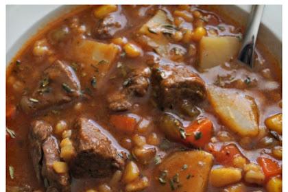 Hearty Beef & Barley Soup
