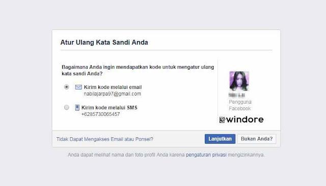 Cara Melihat Email Facebook di Lupa Password