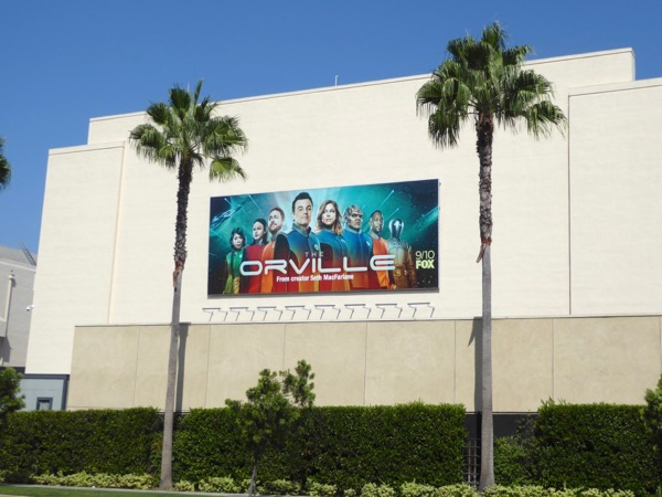 Orville series launch billboard
