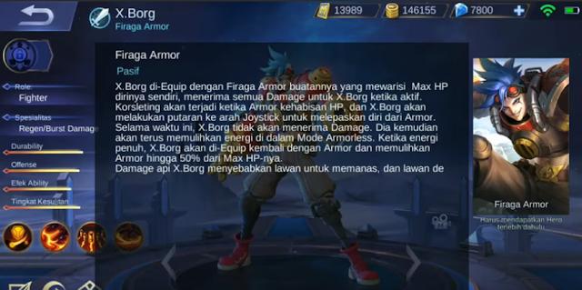 skill pasif X.Borg Mobile Legends