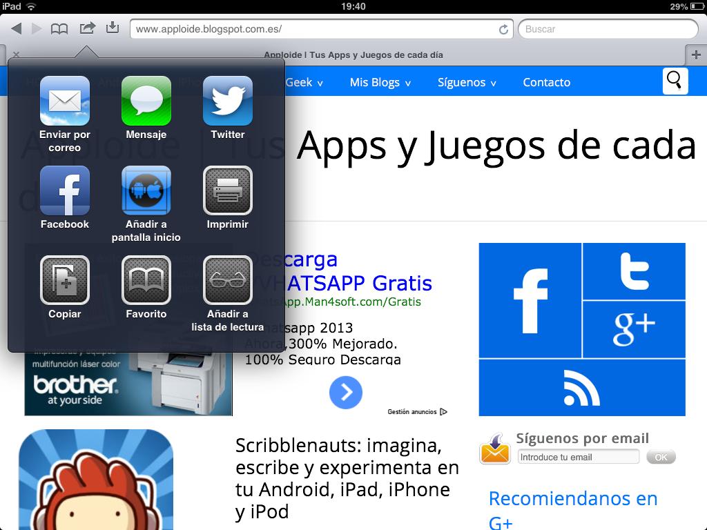 Sitio Del Día Picons Iconos De Redes Sociales Para: Cómo Crear Iconos De Nuestra Web O Blog Para IPad Y