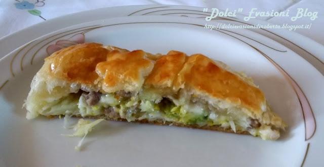 Strudel salato di Verza Salsiccia e Asiago