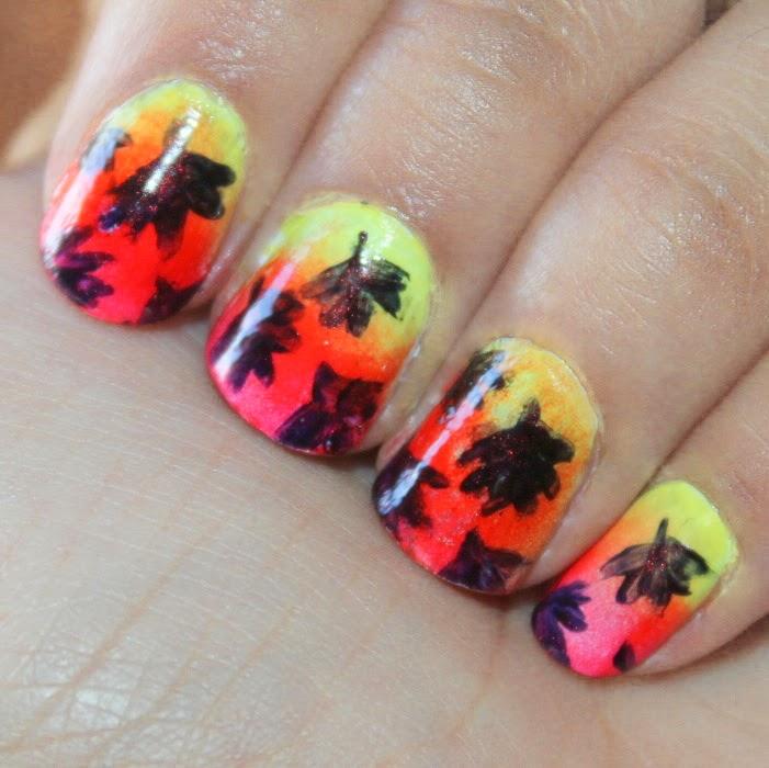 Fall Inspired Nails Tutorial :) - 'Vanessa Jhoy Blog