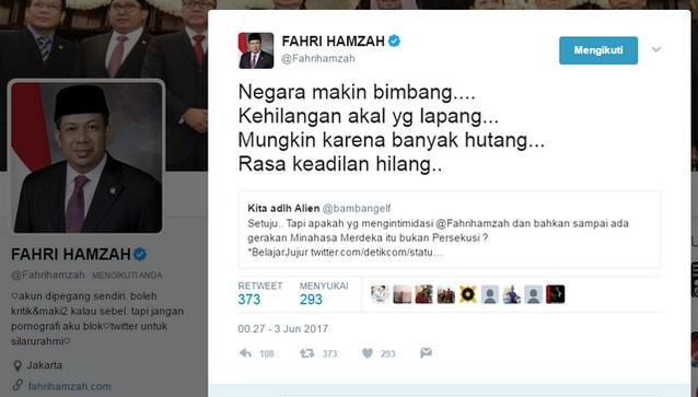 Image result for twit fahri hamzah