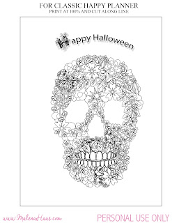 FREE Halloween Coloring page for your planner!