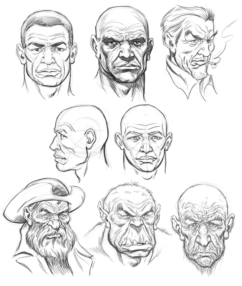 Drawing Male Characters Chap 1 Head Structure