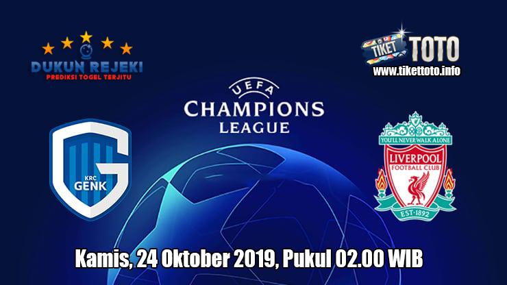 Prediksi Champions League Genk VS Liverpool 24 Oktober 2019