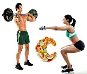 Vitamina C entrenamientos pesas masa muscular