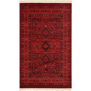 kowloon red area vintage inspired rug