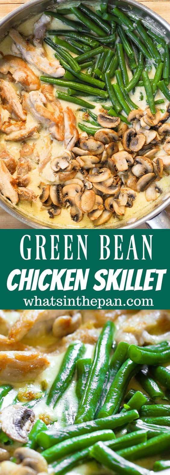 One Skillet Chicken with Green Beans
