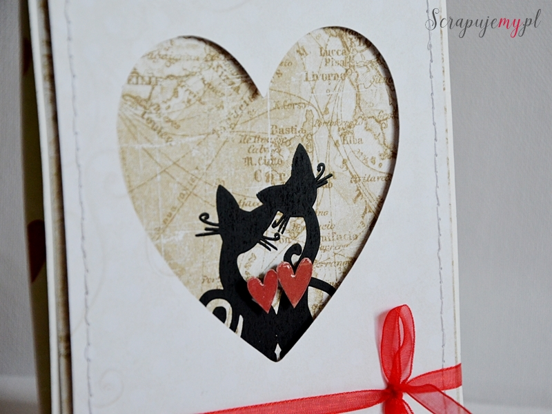 wedding card with cat, wedding card with maps