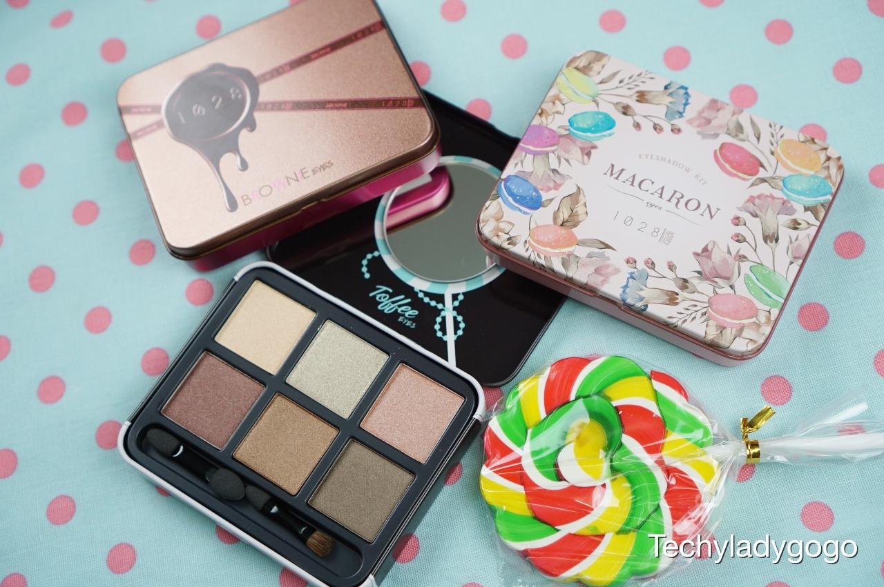 1028 Visual Therapy Eyeshadow Kit พาเลทอายแชโดว์ 6 สีสวยโทนธรรมชาติ ในรูปแบบขนม Toffee, Macaron, Brownie