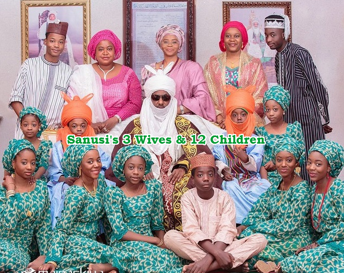sanusi 3 wives children
