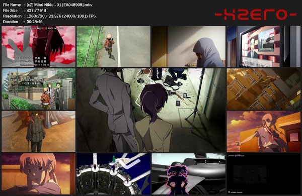 Capturas de Mirai Nikki (TV)