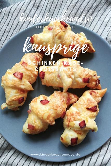 knusprige Schinken-Käse-Croissants zum Sonntagsfrühstück